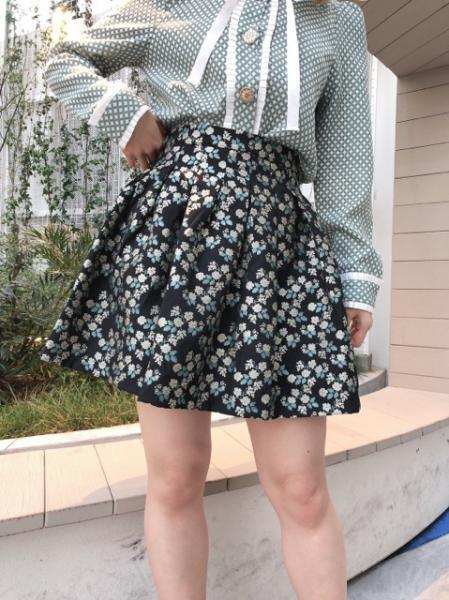 Somersault Jacquard Pleated Skirt