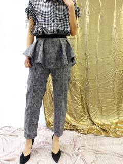 NEW RUFFLE SUMMER TWEED PANTS