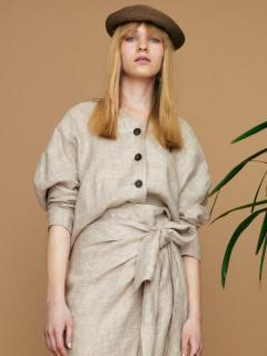 LINEN FOODIE JACKET