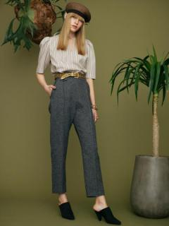 【SALE】SIDE BELT HIGHRISE TROUSERS