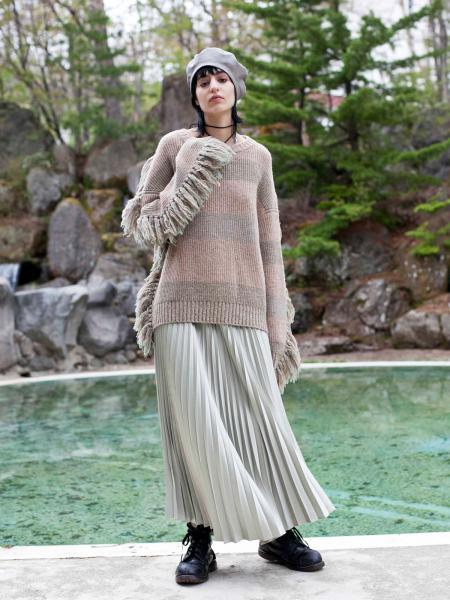 【19AW】BOHEMIAN PLEATS SKIRT