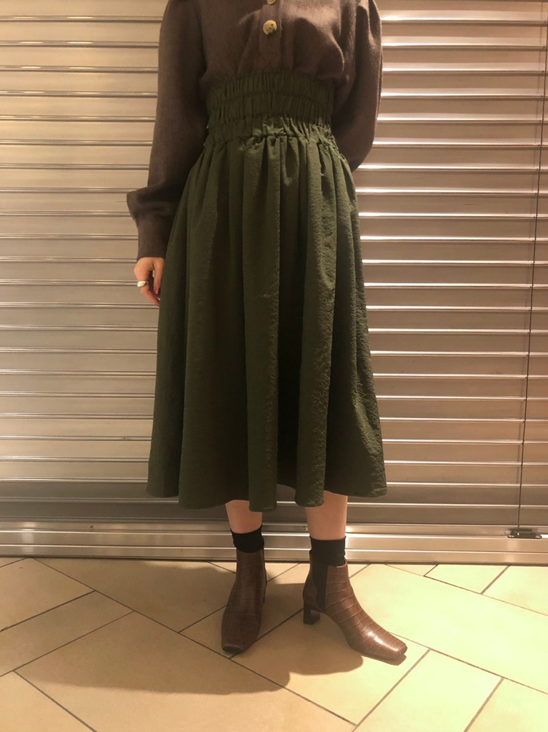 Bravo Shirring Midi Skirt