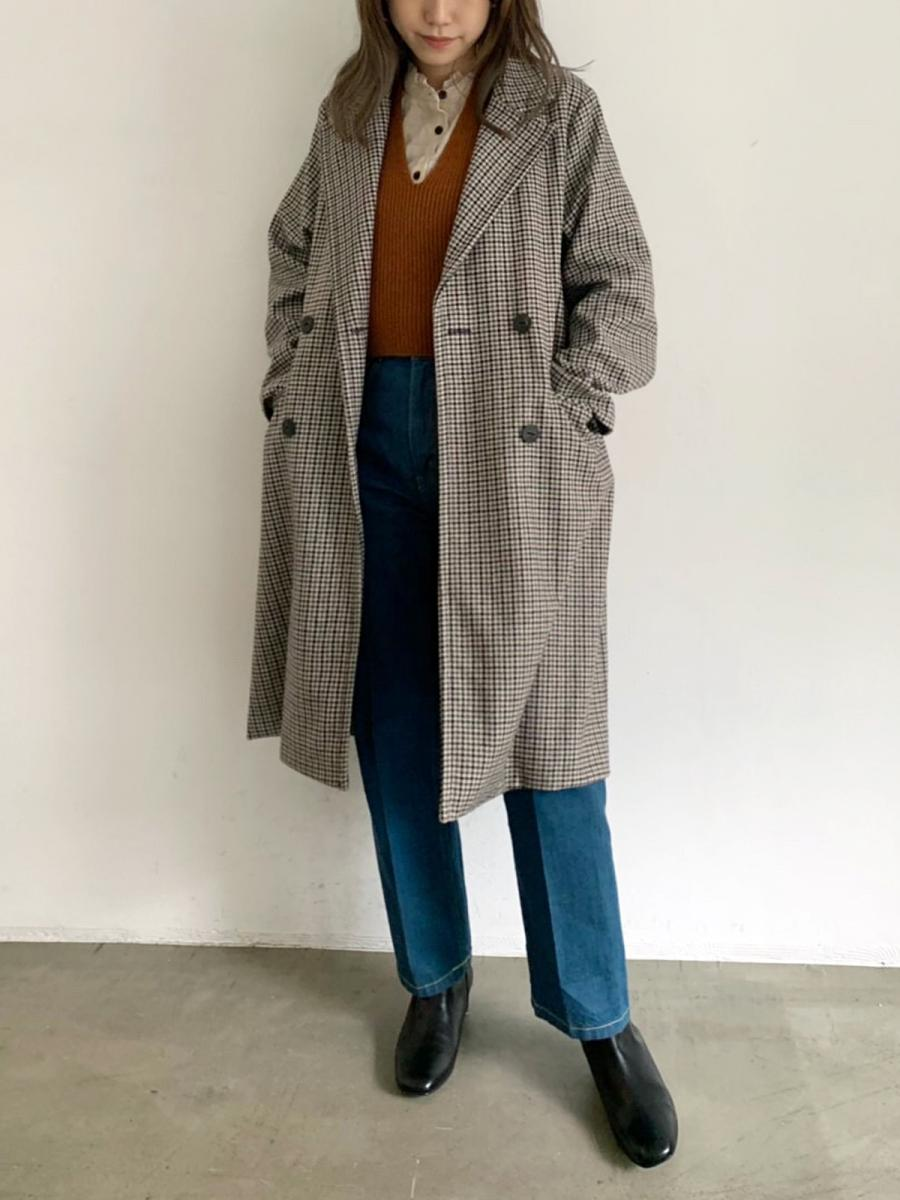 【WINTER SALE】HOUNDSTOOTH CHESTER COAT