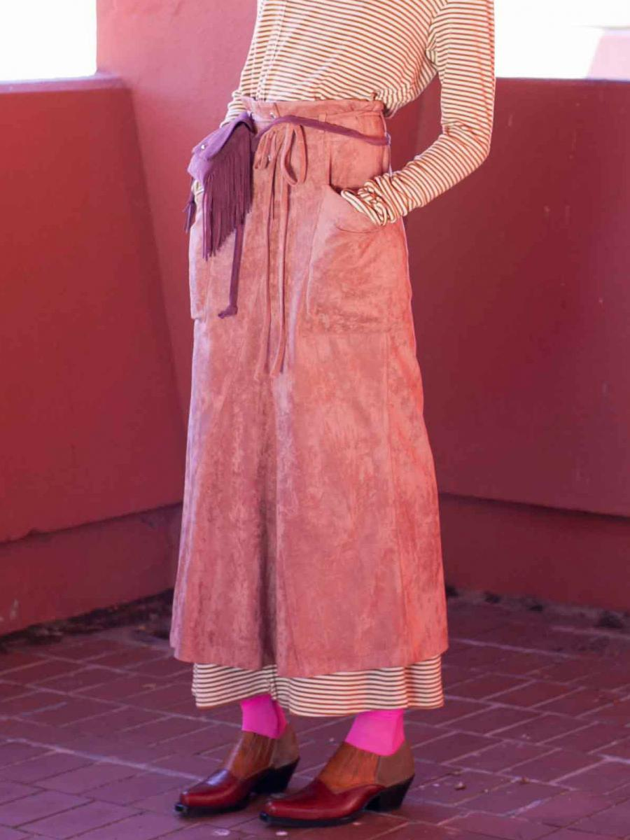 【20SS】SUEDE TONE SKIRT