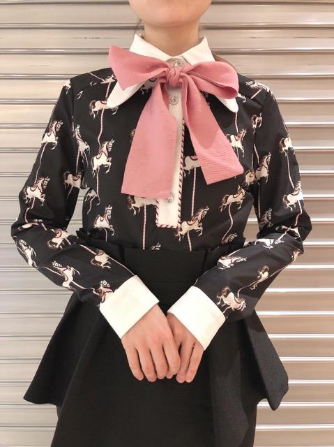 Carousel Retro Collar Blouse