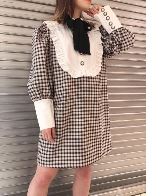 Attraction Check Mini Dress
