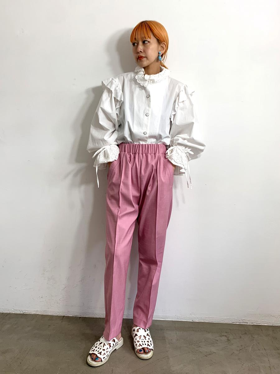 【20SS】SILKY LINE PANTS