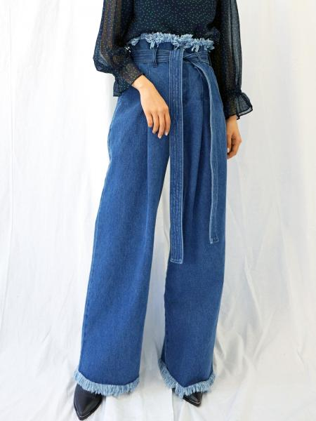 FRINGE BUGGY DENIM
