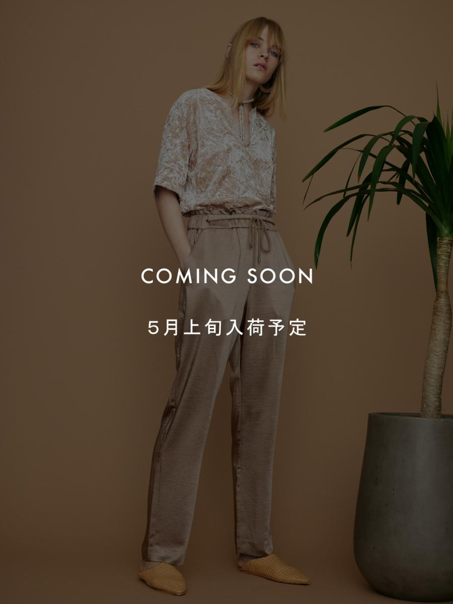SUMMER SATIN GATHER PANTS