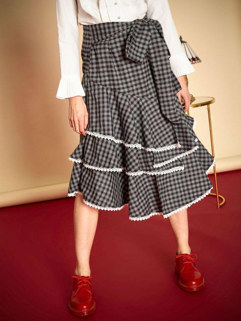 Literary Nonsense Midi Skirt