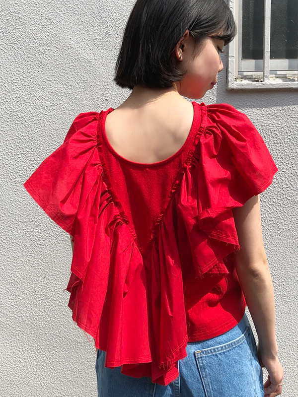 【SALE】RILEY BACK FRILL TOPS