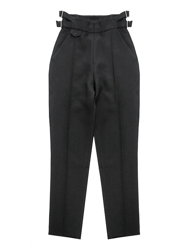 SIDE BELT HIGHRISE TROUSERS