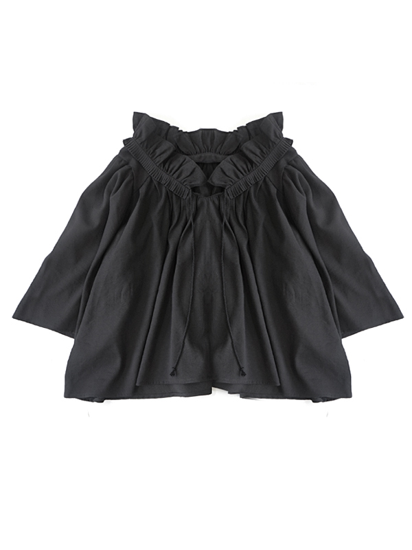 PLEATS FLUFFY BLOUSE