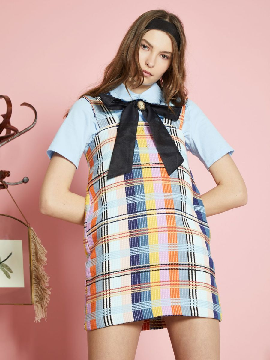 Balzac Tweed Pinafore Dress