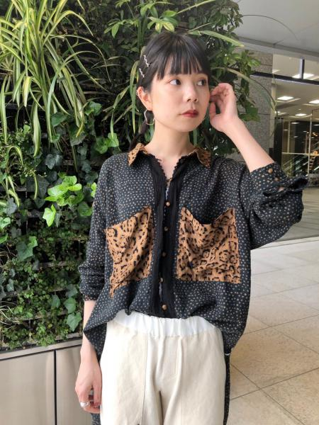 STARRY NIGHT LONGLINE SHIRT (LEOPARD)