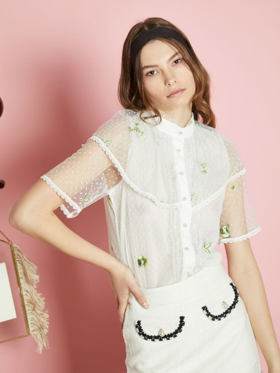 Lumens Embroidered Blouse