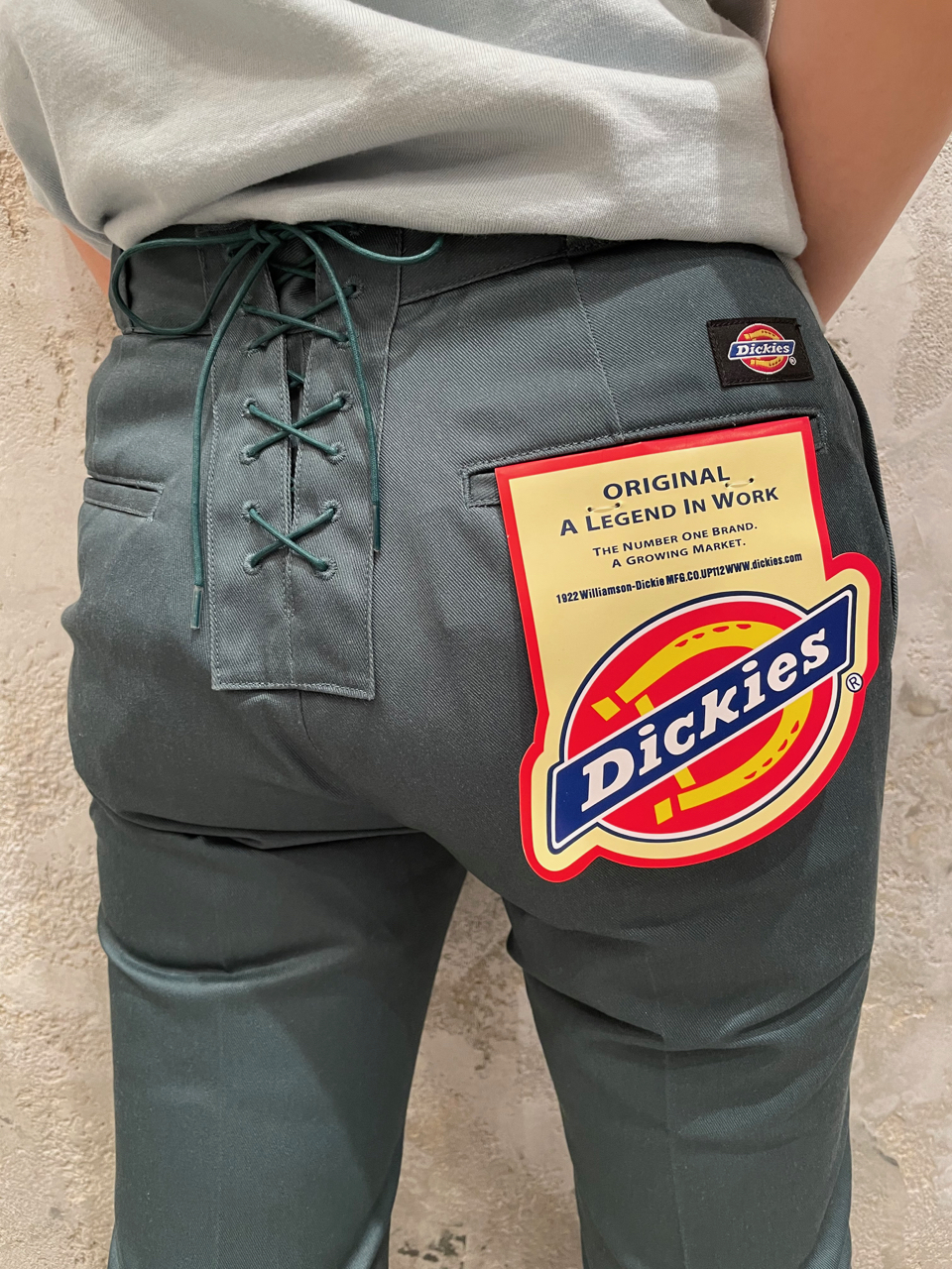 DICKIES LACE-UP FLARE PANTS