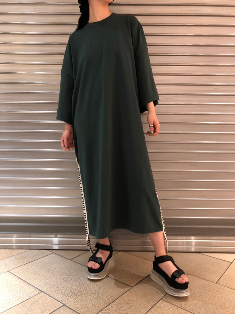 SUPER FINE DRY S/S LONG DRESS(TAPE)