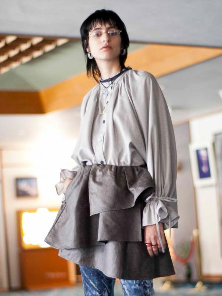 【19AW】GENTLE SHIRRING BLOUSE