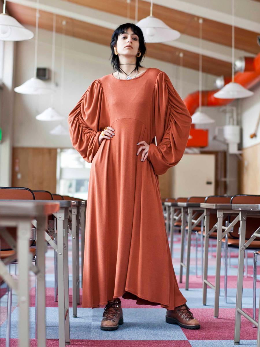 【WINTER SALE】GATHER GRUNGE DRESS