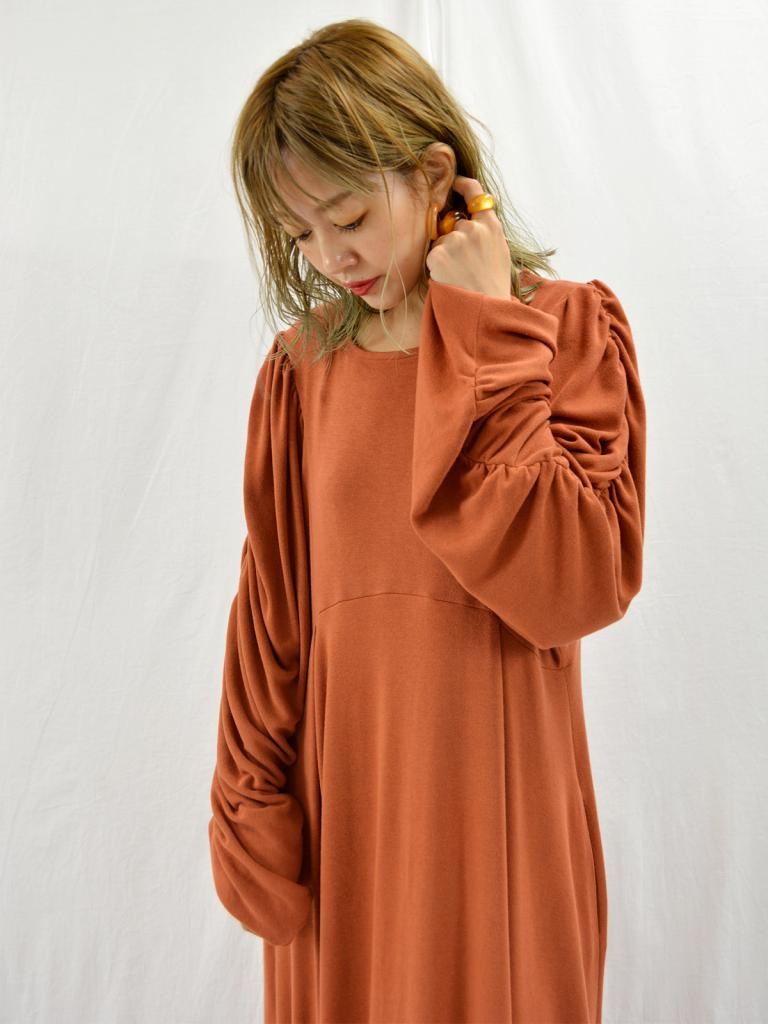 GATHER GRUNGE DRESS*9/12(thu)21時再入荷