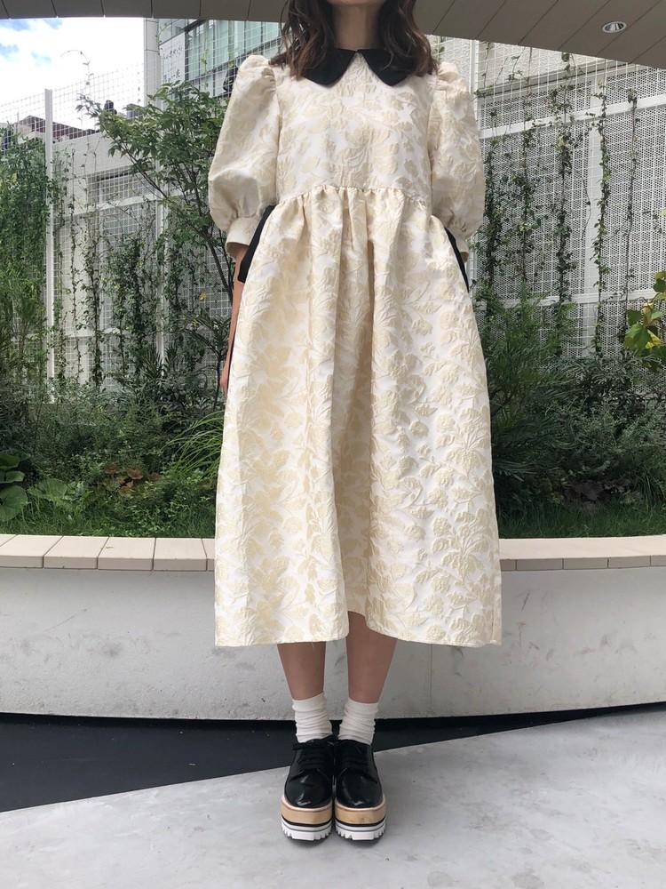 【20AW】Novel Jacquard Midi Dress【9/6 17:00~ 発売】