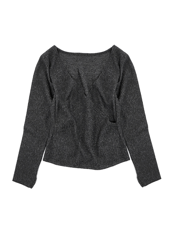 KNIT THERMAL BACK COCHE-COEUR