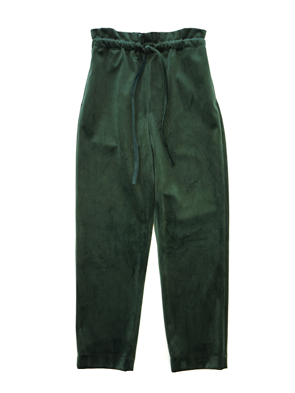 VELOUR GATHER PANTS