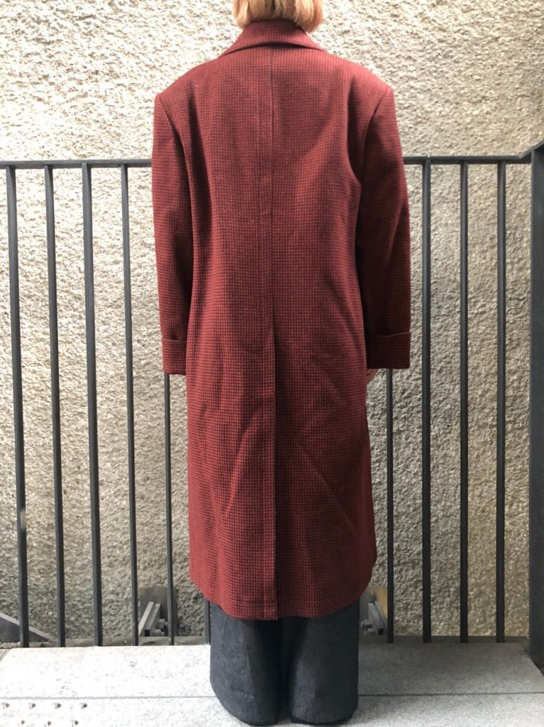 OVERSIZEED DOUBLE BREASTED COAT	ORANGE