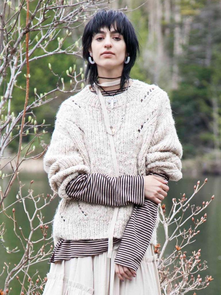 ROUGHNESS LACE KNIT