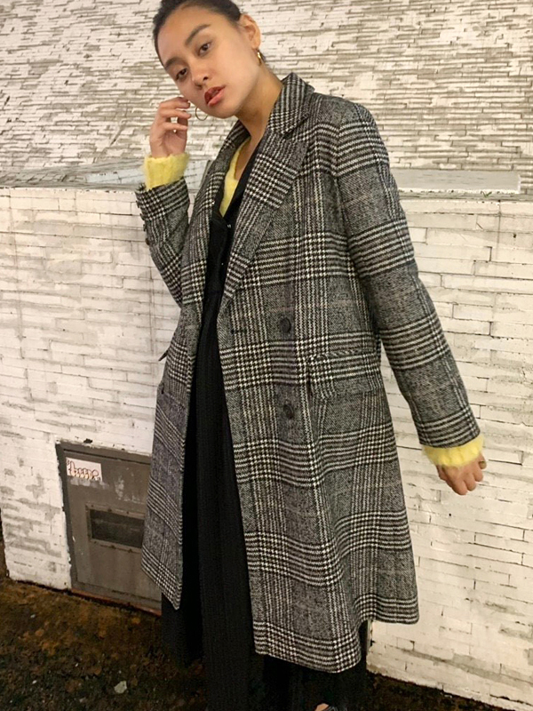 HOUNDSTOOTH CHESTER COAT